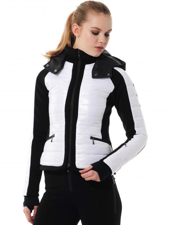 Skijacke white/black