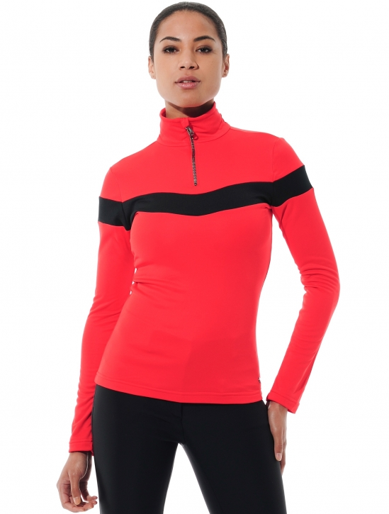 Softex Zip Longsleeve red/black