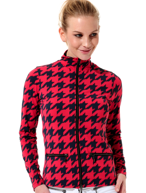 5ba5054cd312 MDC | knitted Meryl print stretch jacket red