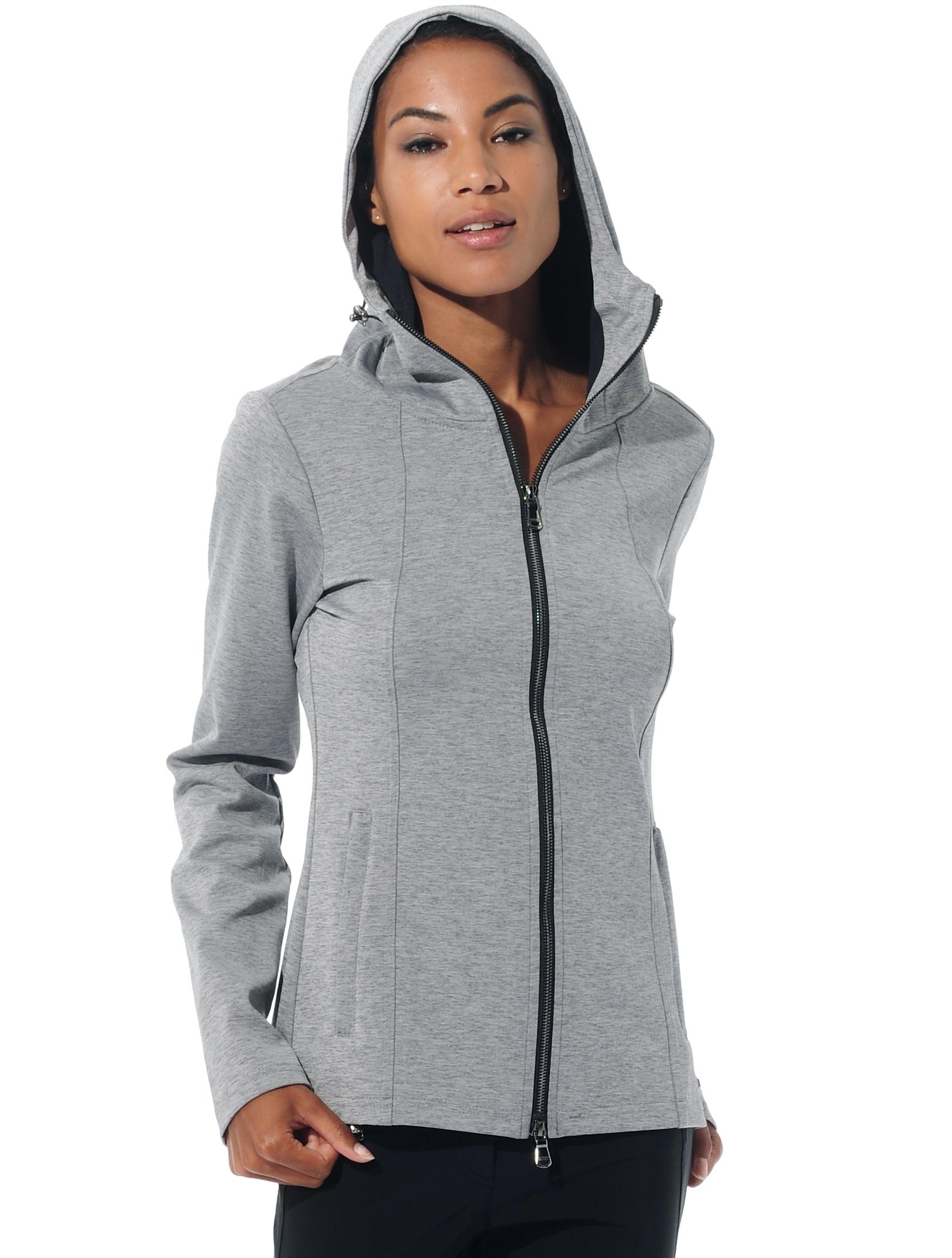 Shapewear hoodie grey melange